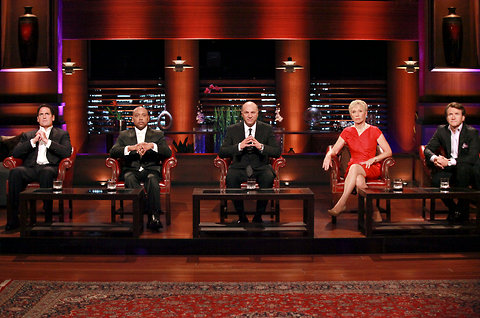 here is a picture of all the shark tank members sitting